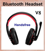 Wholesale Earphone Headphone Over Head Headset - Bluetooth dj headphones headsets over ear Stereo Earphone Studio Head Phone with Handsfree Microphone For iPhone 5S Computer PC MP3 EAR035