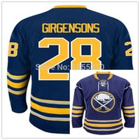 Wholesale Buffalo Logos - Factory Outlet, 2015 New Buffalo Sabres Zemgus Girgensons Jersey #28 Color Blue Cheap Wholesale Hockey Jerseys Stitched Logos Top Quality