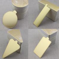 gold papppapier groihandel-Gold100pcs Mousse Pappunterlage Pad Mousse Kuchen Papier-Behälter-Halter Multi Formen verfügbar