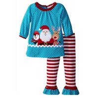 Wholesale children christmas clothing for sale - New Baby Girl Christmas Sets Suits Shirt Pants Girl Striped Xmas Outfits Children Clothing s l
