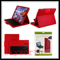 Wholesale Bluetooth Holster - Bluetooth Wireless Keyboard Leather Case Cover Stand Holster for IPAD PRO 12.9 ipad air 2 ipad 6