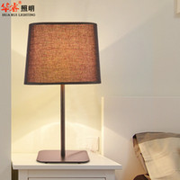 Wholesale Wrought Iron Table Lights - wrought iron art simplestyle table lamps fabric lampshade desk lights white salt living room lamps night light bedside lamps