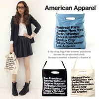 Wholesale American Apparel Canvas - Wholesale-FREE SHIPPING European American style fashion trend Hot Selling 2015 American Apparel Canvas Shoulder Bag Messenger shopping Bag