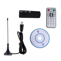 mini receptor de tv digital usb venda por atacado-Mini Digital USB TV Vara FM + DAB RTL2832U DVB-T + R820T Suporte Receptor SDR Sintonizador Promotion