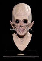 lateks yabancı maskeleri toptan satış-Toptan-Marka Yeni Ekstra Gerçekçi UFO Alien Tam Yetişkinler Kafa Maskesi çevre dostu lateks Ürpertici Extra Terrestrial ET Lateks Tam Maske