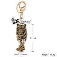 брелки для мальчиков оптовых-Hot Keychains Design 2013, Лучшие продажи брелков с Tiger Design, Модные брелки для мальчиков, Бесплатная доставка брелок для ключей
