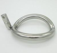 bdsm saflık yüzükleri toptan satış-Süper Küçük Paslanmaz Çelik Erkek Iffet Cihazı Cock Kafesleri Ek Halka Cock Ring 8 Boyutu Yetişkin Seks BDSM Oyuncak Seçin