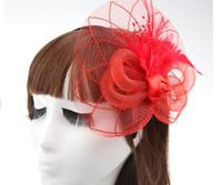 schwarzer hut weißer schleier großhandel-Hottest Vintage Hats Perfekte Birdcage Headpiece Perlen Weiß Schwarz Rot Blau Bridal Net Hat Hochzeit Vogelkäfig Schleier