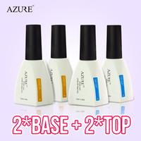 Wholesale Uv Coating For Nails - New brand Azure Nail Gel Polish Temperature Nail Color UV base coat and top coat Nail Gel for Nail soak off gel polish