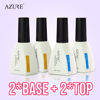 top marcas de uñas de gel al por mayor-Nueva marca Azure Nail Gel Polish Nail Color UV Base base y capa superior Nail Gel para el empapado en gel para uñas