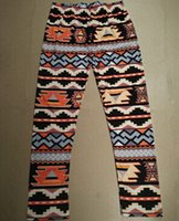 Wholesale Nordic Knitting - Xmas Snowflakes Reindeer Print Leggings 12 Colors Knitted Women Stretchy Pants Nordic Thick Warm Bootcut Christmas Gift