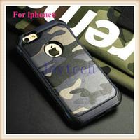 iphone 5s fall camo großhandel-Für iphone 6 / 6s Handytaschen TPU + PC Armee Camo Luxus Tarnung 2 in 1 Hybird Rückseite für iphone5 / 5s / 6 / 6s / 6plus, sumsung s6 / note4 / 5