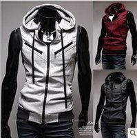 Wholesale Long Hooded Down Vests - Brand new Mens vests outdoors down jacket Fashion Waistcoat ,men vest slim casual hooded vest waistcoat M L XL XXL