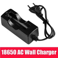 Wholesale rechargeable battery protected - Brand New 3.7V 18650 Wired AC Wall Single Charger Protected For 18650 Li-ion Rechargeable Battery LED Flashligh EU US plug