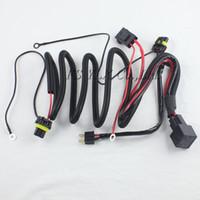 xenon bmw h8 al por mayor-1 x OCULTÓ el cable del arnés de cable del haz del solo equipo del xenón con la retransmisión para H1 H7 H8 H9 H11 9005 9006