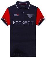 Wholesale Polo Shirt Cool - Cool Hackett Men Casual Polo Shirt London Designer Polos Summer Cotton Mens Polo Shirts England HKT Sport Racing Tees M-XXL