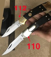 Wholesale Buck Hunting - Hot selling buck 110 112 automatic knife Rosewood hilt Bowie knife Excellent outdoor folding hunting knife