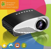 micro usb projetores venda por atacado-Full HD Fácil Micro Projetor EMP GP8S Mini Portátil LCD Home Theater Beamer com Duplo HDMI para SD USB TV AV VGA Portátil Projetor