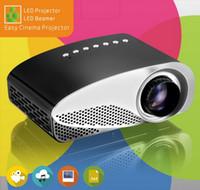 micro projecteurs usb achat en gros de-Full HD Facile Micro Projecteur EMP GP8S Mini Portable LCD Home Cinéma Beamer avec double HDMI pour SD USB TV AV VGA Portable Proyector