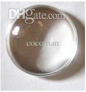 Wholesale Wholesale Glass Title - Wholesale-25MM 1 Inch Round Flat Back clear Crystal glass Cabochon,Top quality;clear cabochon title;sold as 10pcs
