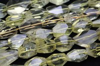 Amarelo Original Natural Lemon Quartz 13-18 * 13-23mm facetada Freeform Limpar Atacado Crystal Bead Encantos europeus