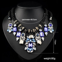 Wholesale Pearl Cluster Statement Necklace - new fashion Luxury Vintage Necklaces & Pendants Multi Layer pearl crystal gem Necklace Choker Statement Necklace For Women DHL Free Shipping