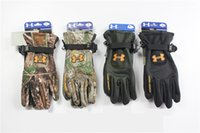 Wholesale Camouflage Gloves - Camouflage Waterproof Gloves Touch Screen Gloves Outdoor Sport Glove Warm Full Finger Guantes Windproof ua DHL free