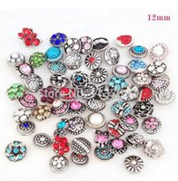 Wholesale Epacket Jewelry - 12mm mini snap button 20pcs lot Mixed colors charms fit ginger snap button bracelet jewelry gift free ePacket ship