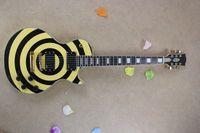 Wholesale Solid Guitar Picks - Freeshopping EMG pick-up for Zakk Wylde Custom Bullseye black+yellow style Electric Guitar HOT SELL