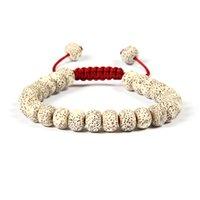 Wholesale Seed Beaded Bracelets - Ailatu Jewelry Wholesale 10pcs lot 7x10mm Xingyue Bodhi Seed Beads Unisex Yoga Meditation Cz Macrame Bracelet For Gift