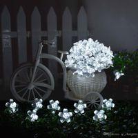 m led de luz blanca solar fairy string luces florales jardines decorativos para rboles de