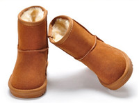 Wholesale Waterproof Snow Boots Wholesale - FREE SHIPPING 2016 Winter waterproof children's warm winter boots girls boys kids Australian snow boots free shipping 10pairs .@038