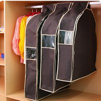 Wholesale Stock A5 - 1PCS Storage Bag For Clothes Hanging Suit Dust Cover three-dimensional Transparent Organizer For Overcoat Protector 3 Size A5