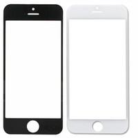 передняя крышка для iphone 4s оптовых-Для iphone 5/5C / 5S 4G / 4S передний внешний экран стеклянная крышка объектива запасные части Бесплатная доставка