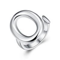 o geformte schmucksachen großhandel-Öffnen Sie O-Silber-Ring-freies Verschiffen 925 silberne Ring-hübsche O-geformte Ring-Größe, die für Frauen-neue Art- und Weiseschmucksachen r008 justierbar ist