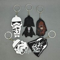 Wholesale New Star Wars Styles KEYCHAIN Darth Vader White Knight Figure Toy Fashion Gift
