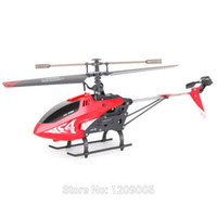 Wholesale Search Light Remote Controlled - Wholesale-New SYMA F4 2.4G 3CH RC Single-blade Remote Control Helicopter Toys with Gyro Searching Light Red Black