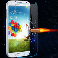 Wholesale S4 Clear Screen Protector - Tempered Glass Clear Front Screen Protector For Samsung Galaxy S7 S6 S4 Note 4 5 Iphone 6 6S 7 Protective Film Package With Opp Package