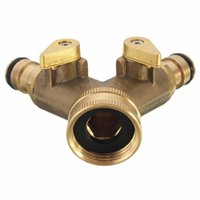Wholesale garden valve resale online - New Arrival pc Two General Copper Ball Valve Garden Double Brass Independent switch Watering order lt no track