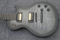 Wholesale Grey Electric Guitars - Free shipping grey standard ebony fingerboard electric guitar, mahogany neck guitar std-20