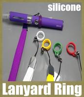 Wholesale Mt3 Accessories - e cig lanyard ring silicone lanyard ring vaporizer pen holder neck lanyard accessories for ce4 ce5 MT3 T3S atomizer ego t evod vision FJ048