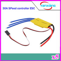 Wholesale Boat Brushless Motor - 5pcs Simonk firmware 30A Brushless Motor Speed Controller RC BEC ESC T-rex 450 V2 Helicopter Boat ZY-DJI-30A