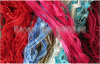 Wholesale Mix Colors Ribbon 6mm - Mix colors 6mm elastic stretch velvet ribbon with organza sheer stretchy ribbons lace edged ribbons DIY ACCESSORIES 50yards.