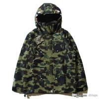Wholesale Popular Coat Brands - Newest Fashion Men's Camouflage Men's Hoodies Windbreaker Hoodies Fashion Cardigan Leisure Coat Popular Brand Japanese Lapel Thin