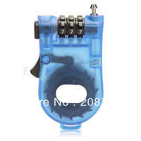 Wholesale Helmet Locks - Wholesale-BMX Bike Bicycle Cycle Cable Combination Lock Helmet Luggage Safety Blue