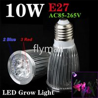Wholesale E27 Led Blue Spotlight - Full Spectrum Led Induction Grow Light 10W GU10 E27 Led Plant Lamp Bulb for Flowering Hydroponics System Spotlight Led Bulb Indoor Light