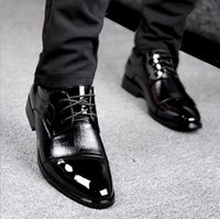 Wholesale Grooms Black Shoes - Men's shoes Splicing han edition fashion personality groom dress shoes Wedding shoes single shoes Men's shoes Black and brown