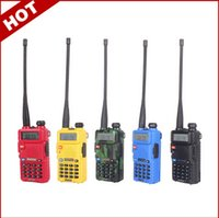 Wholesale Baofeng Dual Uv 5r - Portable Radio Two Way Radio Walkie Talkie Baofeng UV-5R for vhf uhf dual band ham CB radio station Original Baofeng uv 5r