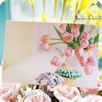 Wholesale Video Greeting Card Wedding - free shipping 200pcs lot 5.4x8.2cm,Ultra-small mini card wedding thank you message card