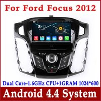 Wholesale Bluetooth Car Audio Ford - Android 4.4 Car DVD GPS Navigation for Ford Focus 2012 2013 with Radio Bluetooth TV USB WiFi Audio Stereo 1024*600 Screen